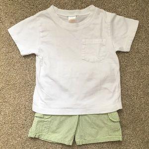 Gymboree 2-piece bundle: t-shirt and shorts 18-24m